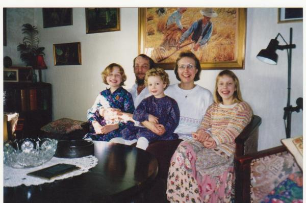 Dad, mum, my sisters and I approx. 1997.